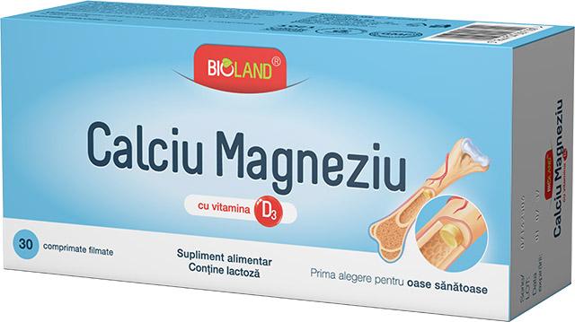 Bioland® Calciu Magneziu cu vitamina D3