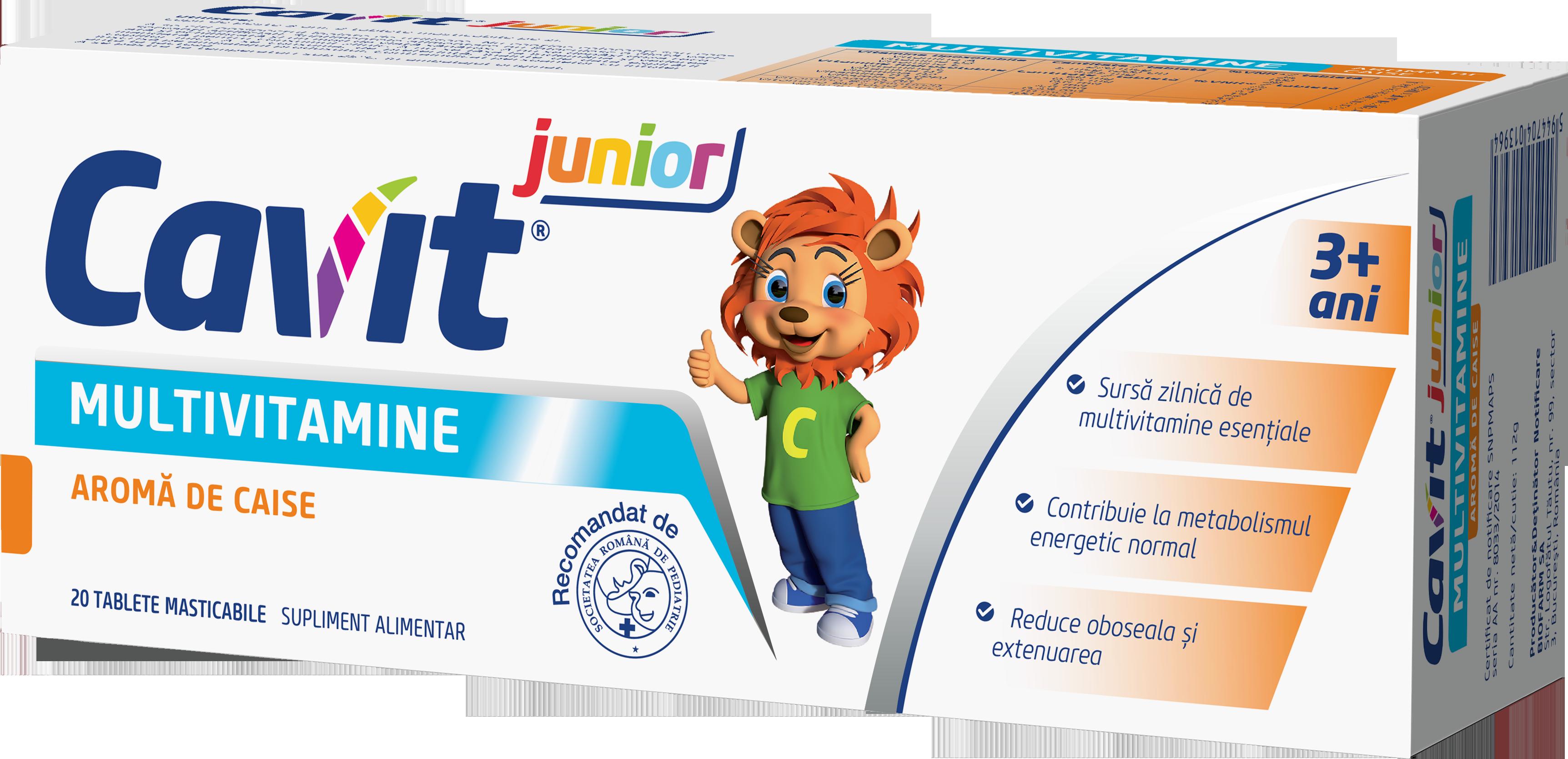Cavit Junior® cu aroma de caise
